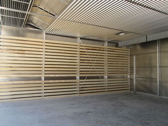 Wood drying chamber